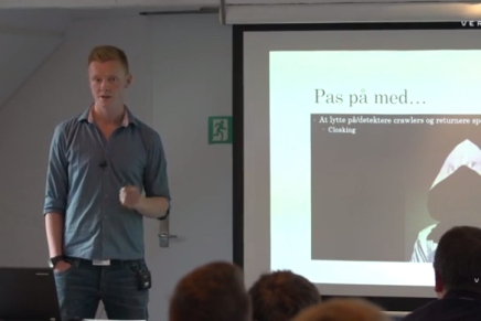 Indeksering af dynamisk indhold i JavaScript-tunge applikationer, Frontend MeetupAarhus